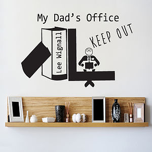 Personalised Wall Sticker For Dad's Office