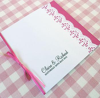 Lace Edged Personalised Wedding Stationery