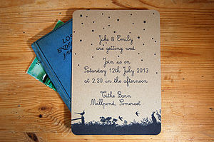 Vintage Country Wedding Stationery Range - place cards