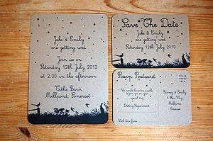 Midsummer Meadow Wedding Stationery Range - table decorations