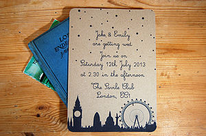 London Town Wedding Stationery Range - table decorations