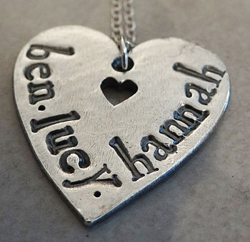 Personalised Loved Ones Heart Necklace