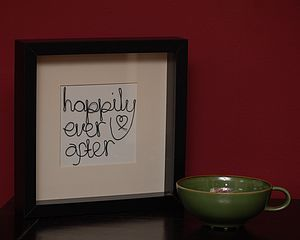 Happily Ever After Wired Words Art - pictures, prints & paintings