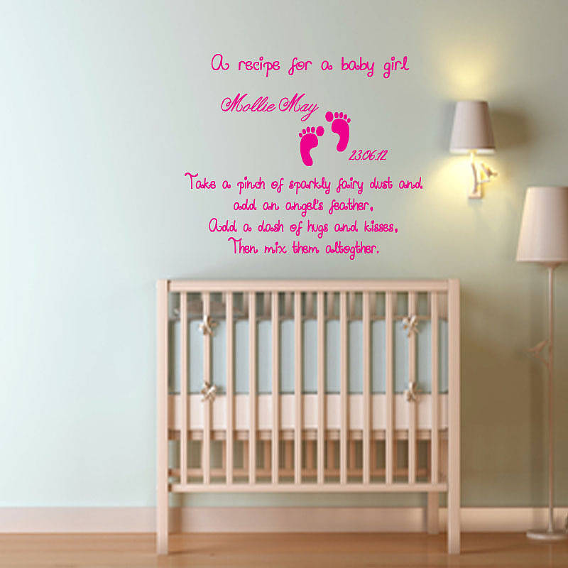 canvas prints for baby room. Personalised Baby Girl Recipe Wall Sticker By Almo Art . Canvas Prints For Room