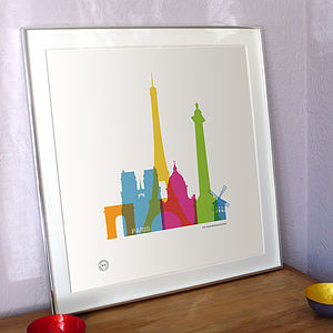 Personalised Paris For Lovers Print