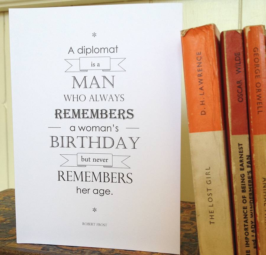 Literary Quote Birthday Card By Literary Emporium Notonthehighstreet.com
