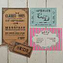 Carnival Fun Wedding Stationery Range