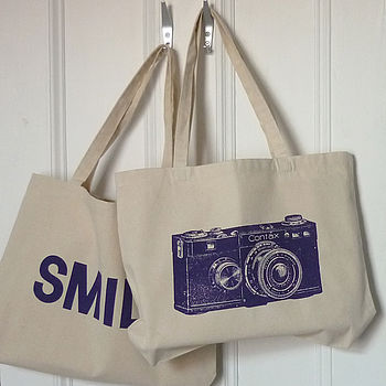 Smile For The Camera Shopper Tote Bag