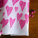 Set Of Two Happy Heart Hankies