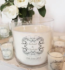 Personalised Wedding Table Centrepiece - candles