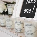 Wedding Favour Personalised Scented Candles