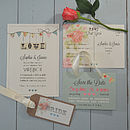 Country Bunting Wedding Invitation