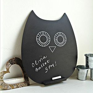 Retro Owlet Chalkboard - noticeboards