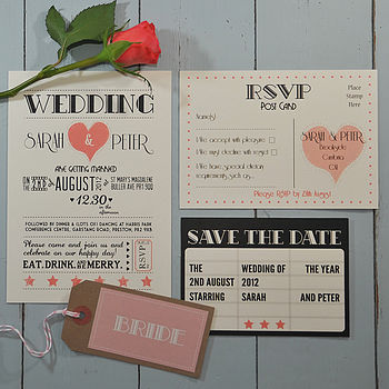 Hollywood Glamour Wedding Stationery Range