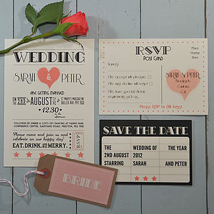 Hollywood Glamour Wedding Stationery Range - wedding stationery