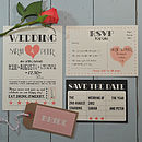 Hollywood Glamour Wedding Invitation