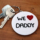 Personalised Mens Fathers Day Key Ring