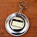 Reverse of Men's personalised Bottle Opener & Keyring