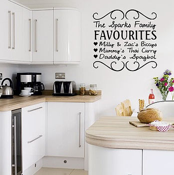 Personalised Your Kitchen Wall Sticker