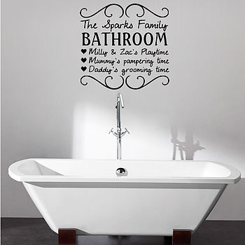 Personalised Your Bathroom Wall Sticker