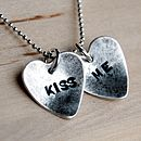 Example text for heart charm necklace
