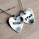 Rock Star - suggested words for charm necklace