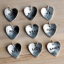 Example heart charm words