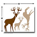 kids woodland wall stickers
