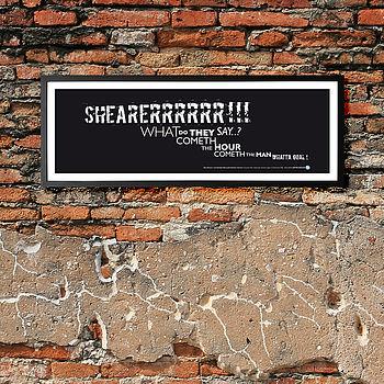 Newcastle Utd 'Shearer' Framed Football Print