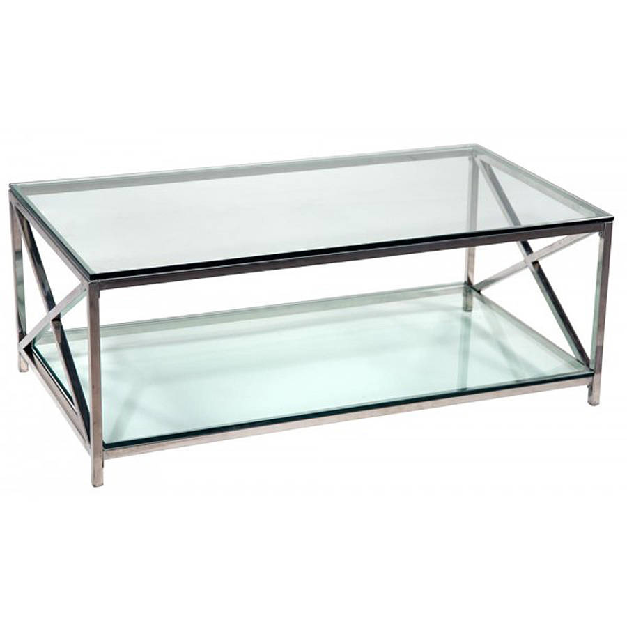 milo baughman chrome glass cantilevered round coffee table at