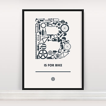 'B Is For Bike' Screen Print