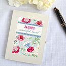 Personalised Mother's Day Floral Notebook