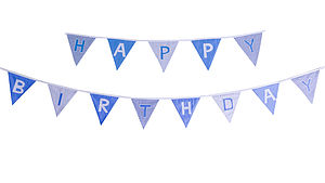 'Happy Birthday' Cotton Bunting - children's room accessories