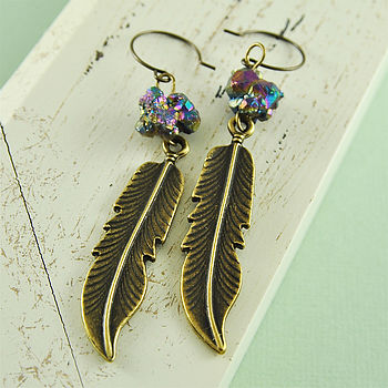Feather Tribal Earrings