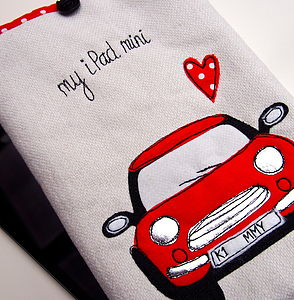 Personalised Car Case For ⅰPad Mini - laptop bags & cases