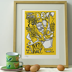 A Good Egg Print - aspiring chef