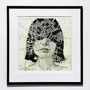 Cambridge Map Portrait Print
