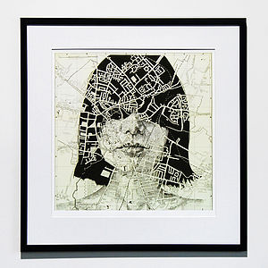 Cambridge Map Portrait Print - contemporary art