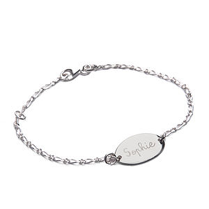 Baby's Personalised Oval Identity Bracelet - children's jewellery