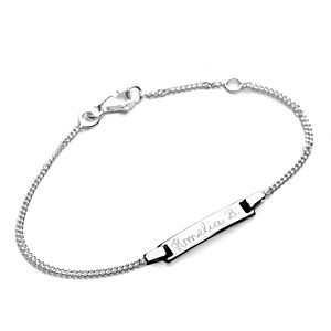 Baby's Personalised Rectangular Bracelet - children's jewellery