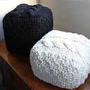 Chunky Hand Knit Footstool