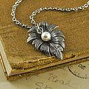Vintage Style Leaf Necklace