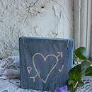 Personalised Heart Sign Square Blue