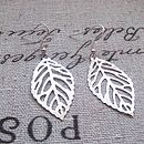 Silhouette Leaf Earrings