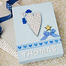 Personalised Baby Boy Canvas Picture