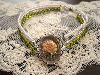 German Floral Vintage Bracelet