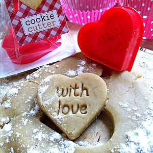 'With Love' Cookie Cutter And Stamp - bakeware & cooking