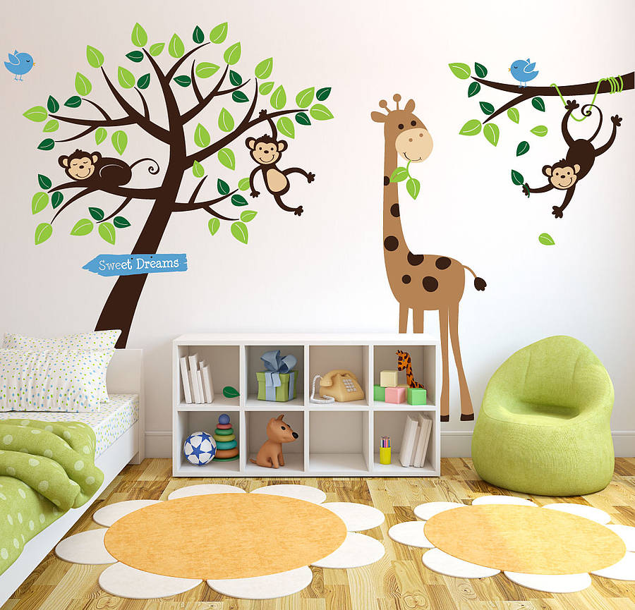 animals and tree wall stickerparkins interiors