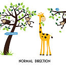 Animals And Tree Wall Sticker