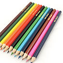 Pack Of 12 Personalised Colouring Pencils